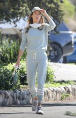 Alessandra Ambrosio Enjoys a hike session with a friend in Pacific Palisades