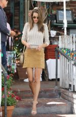 Alessandra Ambrosio Finishes a lunch meeting at The Ivy in Los Angeles