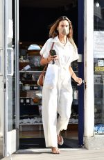 Alessandra Ambrosio Shops for gym equipment while out running errands in Brentwood