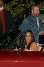 Alessandra Ambrosio Spotted on a romantic date with mystery man at Nobu in Malibu