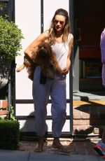 Alessandra Ambrosio Stops by a friend