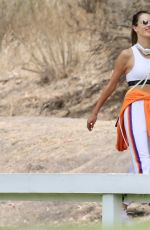 Alessandra Ambrosio Takes a hike with a friend in the Pacific Palisades mountain trails, Pacific Palisades