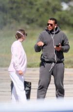 Alex Rodriguez & Jennifer Lopez Leaving the Hamptons at a private airport in New York