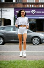 Alexandra Cane Shows off her amazingly toned body as she arrives at Power of Health Cafe in Cockfosters