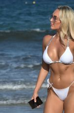 Amber Turner Takes selfies as she enjoys a day on the beach in Ibiza