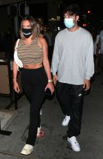 Anastasia Karanikolaou Arrives for dinner with Zack Bia at IL Pastaio Restaurant in Beverly Hills