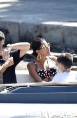 Anitta Shows off her sexy figure in animal printed attire on holiday out in Portofino
