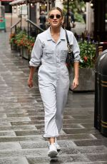 Ashley Roberts Outside the Global Radio station in London