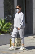 Ashley Tisdale Dons all gray ensemble while out shopping in Beverly Hills