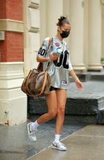 Bella Hadid In short shorts leaving her apartment in NY