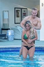 Bianca Gascoigne and Kris Boyson are seen on their first holiday in Croatia