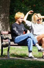 Billie Piper Seen at a local park with her boyfriend Johnny Lloyd in London