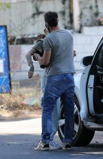 Brian Austin Green & model Tina Louise Shares a hug after their lunch at her restaurant Sugar Taco in Los Angeles