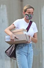 Brie Larson Collecting packages in Los Angeles