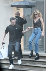 Brooklyn Beckham & Nicola Peltz Are spotted leaving the Victoria Beckham store on Dover Street