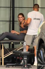 Cara Delevingne and Kaia Gerber sharing a workout in Los Angeles