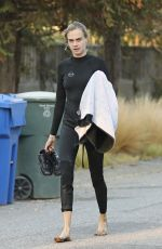 Cara Delevingne Out surfing in Malibu