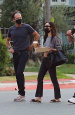 Cara Santana and her new boyfriend Shannon Leto gather with friends at a Beverly Hills Park