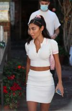 Chantel Jeffries, boyfriend Andrew Taggart, and Alissa Violet head out after lunch together at The Ivy in West Hollywood