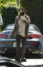 Charli XCX As they leave a friends house amid the COVID-19 pandemic in Los Angeles