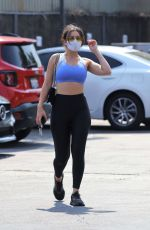 Charli XCX In Crop top and leggings outside a gym in LA
