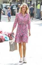 Charlotte Hawkins Arriving at Global Offices in London