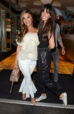 Chelsee Healey and Jennifer Metcalfe see arriving at The Ivy for Chelsee
