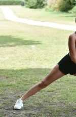 Chloe Crowhurst At Morning Workout in Chigwell Essex