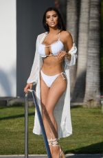 Chloe Khanby the pool in a 5 star hotel in Marbella, Spain, Costa Del Sol