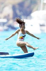 Christina Milian On a boat during holidays in St Tropez