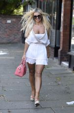 Christine McGuinness Dons her face mask at KP Aesthetics - Manchester