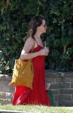 Claire Foy Out in the sun in London