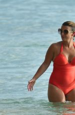 Coleen Rooney In Barbados having a fun day on the beach