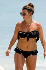 Coleen Rooney In her skimpy black bikini out on the beaches of Barbados