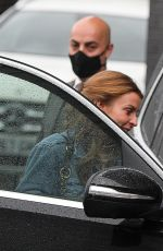 Coleen Rooney Leaving her hotel in Manchester