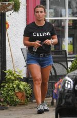 Coleen Rooney Seen for the first time grabbing a coffee in Cheshire