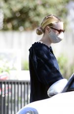 Dakota and Elle Fanning head out for the day in Los Angeles