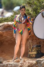 Demi Rose Strikes some poses while shooting in Ibiza, Spain