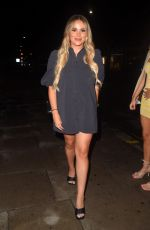 Demi Sims, Georgia Kousoulou and Chloe Sims seen arriving at Sumosan Twiga in London