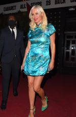 Denise Van Outen Poses for pictures after performing at her Cabaret show at Proud Embankment in London