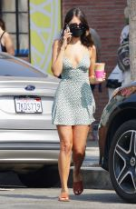 Eiza Gonzalez Picks up an iced coffee from Alfred