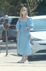 Elle Fanning At a floral shop with her mom in LA
