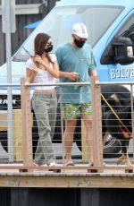 Emily Ratajkowski And her husband are spotted walking their dog after having lunch in Sag Harbor New York