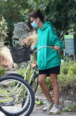 Emily Ratajkowski Out for a bike ride in the Hamptons, New York