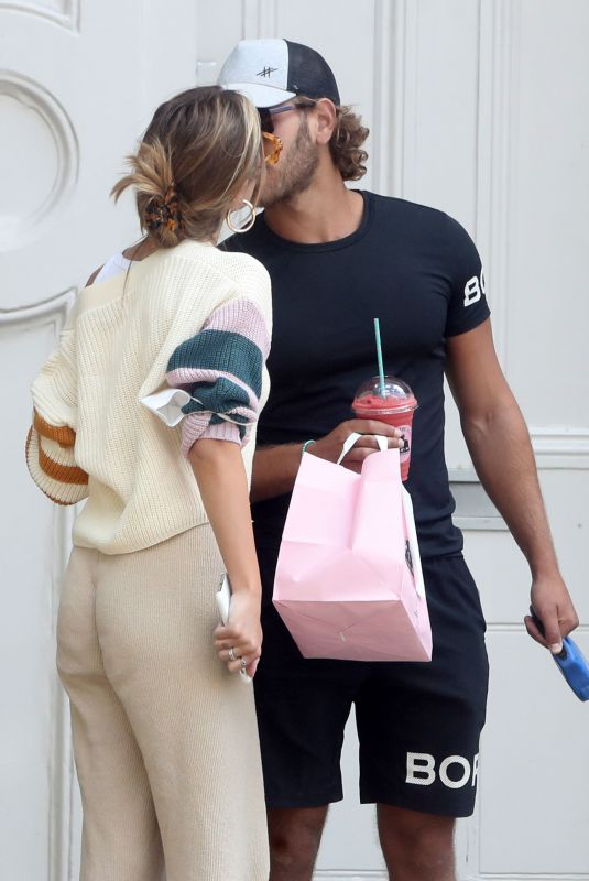 Eyal Booker and Delilah Belle Hamlin out and about, Primrose Hill, London