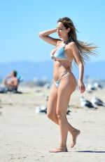 Farrah Abraham In a skimpy blue bikin at the beach in Malibu