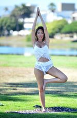 Farrah Abraham Wearing nothing but a skimpy lingerie outfit in Santa Monica