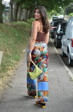 Francesca Allen Heads to a friends BBQ party in Chigwell
