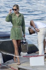 Frida Aasen and her partner on their vacation out in Portofino
