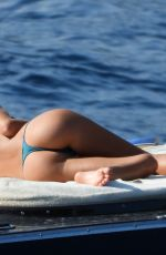 Frida Aasen Releaxing on a yacht in south of France